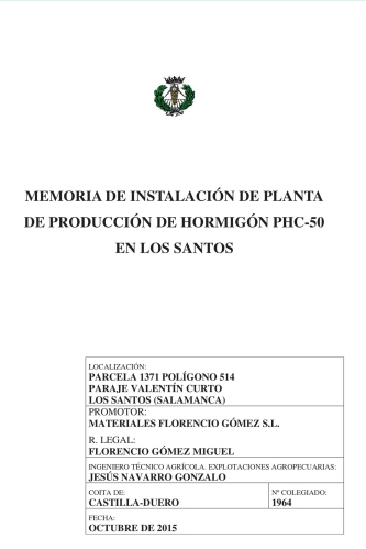 Planta de Producción de Hormigón en Los Santos