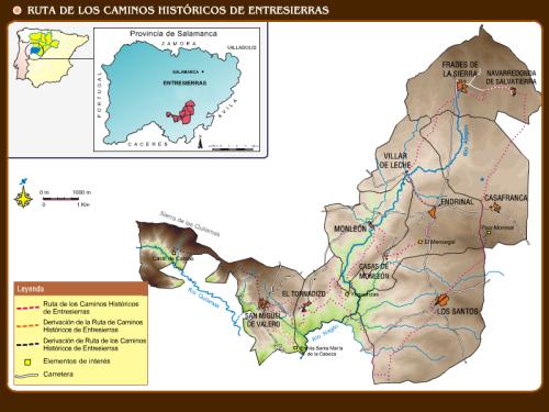 Ruta Caminos Históricos de Entresierras - Plano General